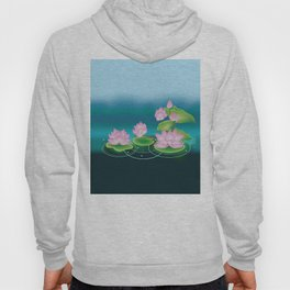 Lotus Flower with Leaves Hoody