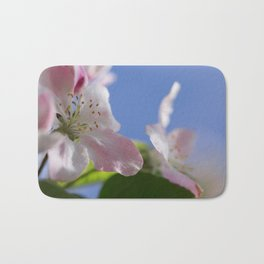 Apple Tree Blossoms InThe Blue Sky Bath Mat