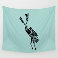 diver Wall Tapestries featuring Diver by Hinterlund