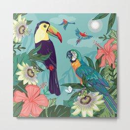 Toucan and Parrot Metal Print