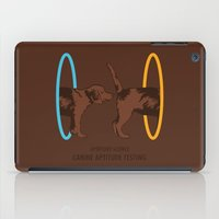 aperture iPad Cases featuring Aperture Science - Canine Aptitude Testing by Record Makers