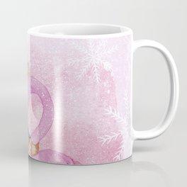 Winter Woodland Stranger- Cute Flamingo Bird Snowy Forest Illustration Coffee Mug