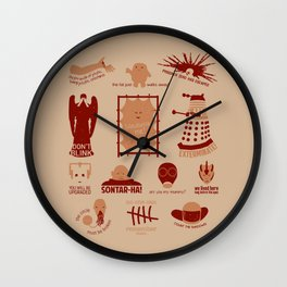 Doctor Who |Aliens & Villains Wall Clock