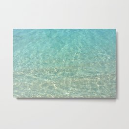 Colors of the Sea Water - Clear Turquoise Metal Print