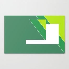 Greens Pattern Canvas Print