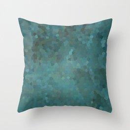 Abstract mosaic green landscape Throw Pillow