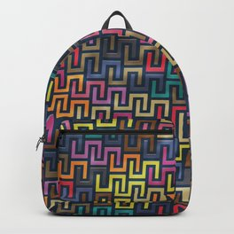Colorful Geometric Pattern #06 Backpack
