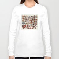 agate Long Sleeve T-shirts featuring agate,gemstone by ira gora
