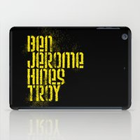 caleb troy iPad Cases featuring Ben Jerome Hines Troy / Black by Brian Walker