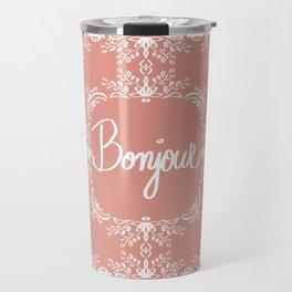Bonjour - Autumn Peach Travel Mug