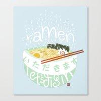 ramen Canvas Prints featuring Ramen. by k.b. doodles