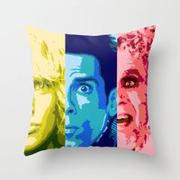 will ferrell Throw Pillows featuring Zoo Pop by victorygarlic