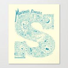 Monster Doodle - light version Canvas Print