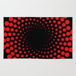 red spiral Rug