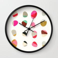 painted pebbles 1 Wall Clock
