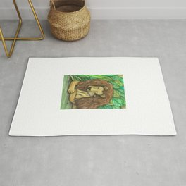 Lion and Cub Rug