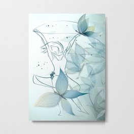 Le positive design dinamique du madame butterfly Metal Print