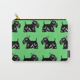 Scottie Dogs Green & Black Pattern Carry-All Pouch