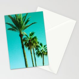 Palm trees and blue sky Stationery Cards