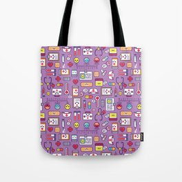 Proud To Be a Nurse Pattern / Purple Tote Bag