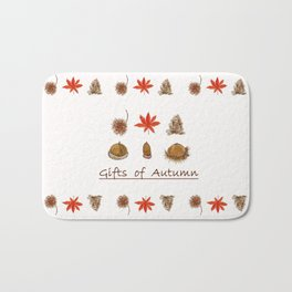 Gift of autumn watercolor painting Bath Mat