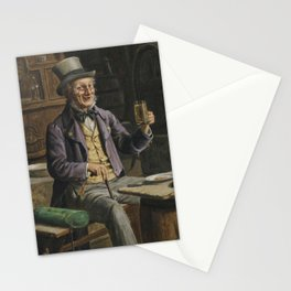 Drinking Beer Painting Stationery Cards