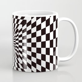 Checkered Optical Illusion Coffee Mug
