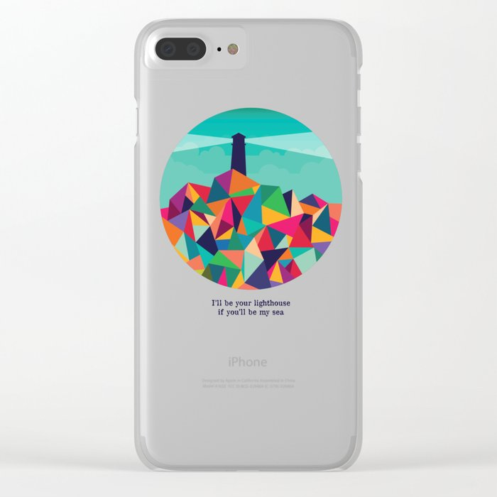I'll be your lighthouse if you'll be my sea Clear iPhone Case