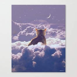 i wish you know how much space you occupy in my mind. Canvas Print