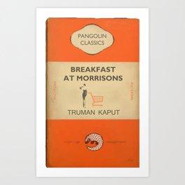 Breakfast at Morrisons - vintage book cover spoof Art Print