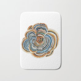 "Trametes ""Turkey Tail"" Mushroom Bath Mat"