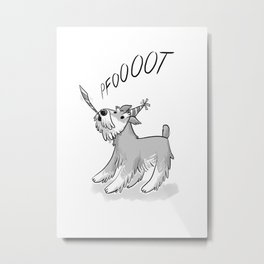Cute Party Schnauzer, Dog Print! Metal Print