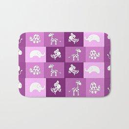 Nursery Animal Print Bath Mat