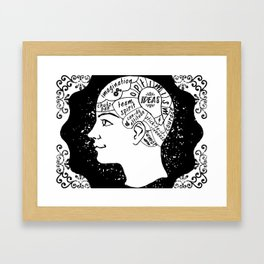 BRAINS (Use it or lose it.) Framed Art Print