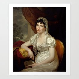 Rembrandt Peale - Portrait of Jane Griffith Koch Art Print