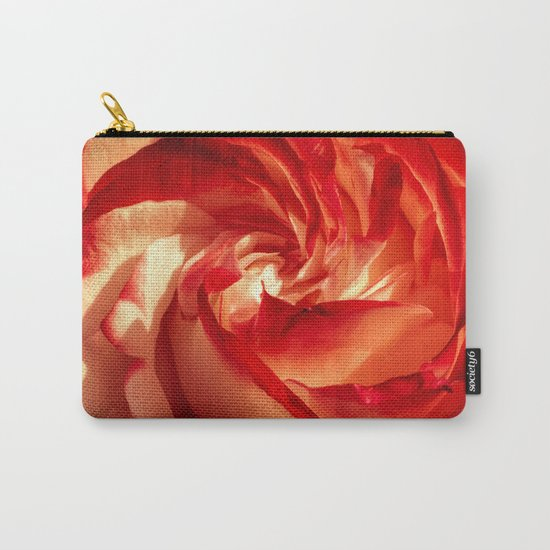 In fire - red and orange rose flower on #Society6 Carry-All Pouch