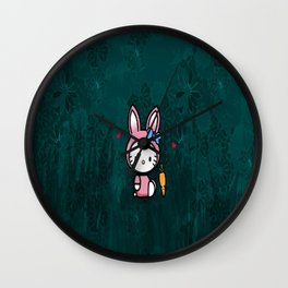 HK with carrot Wall Clock
