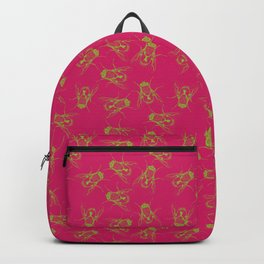 Fly on the Wall - Magenta and Green Backpack