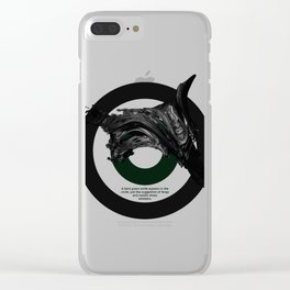 Green Smile Clear iPhone Case
