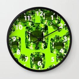 August Babies Birthstone Gems Art Wall Clock