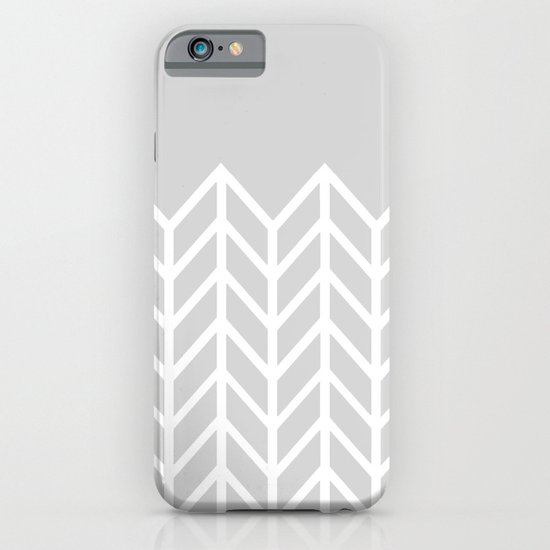 LACE CHEVRON (GRAY) iPhone & iPod Case