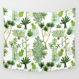 Green jungle pattern Wall Tapestry
