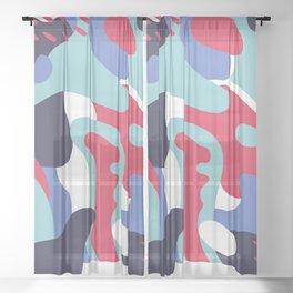 Camo Art Abstract Design Sheer Curtain