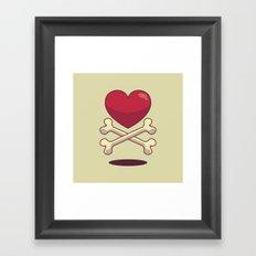 bone up on love Framed Art Print