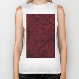Burgundy Red Hunting Camo Pattern Biker Tank