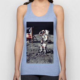 Salute on the Moon Unisex Tank Top