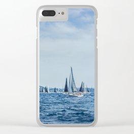 Regatta in Saint-Tropez Clear iPhone Case