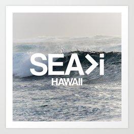 SEA>i     The Wave Art Print