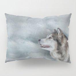 Drawing Dog Alaskan Malamute Pillow Sham