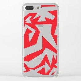 weird red art Clear iPhone Case